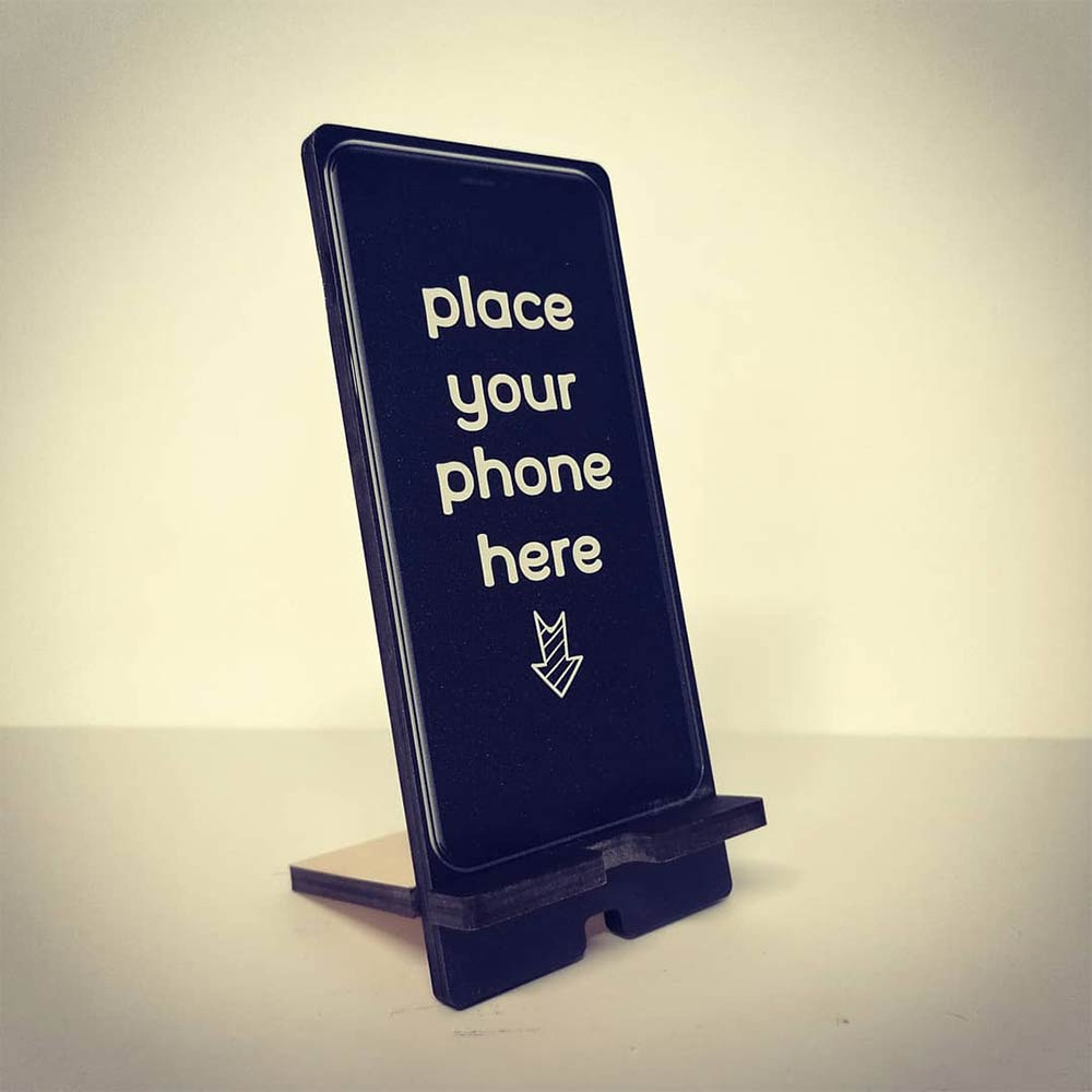 Customized phone stand